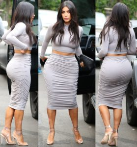 Kim K is going commando