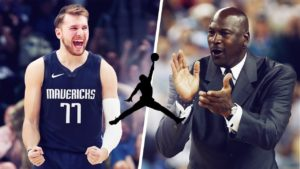 Luka Doncic and Michael Jordan